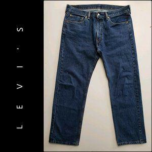 Levis 505 Denim Blue Straight 100% Cotton Jeans